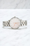 Nixon Kensington Silver and Light Gold Crystal Watch 3