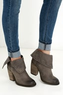 Sbicca Chord Taupe Fold-Over Boots 1