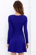 Forever Chic Royal Blue Long Sleeve Dress 4