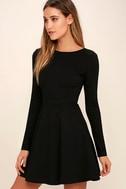 Forever Chic Black Long Sleeve Dress 3