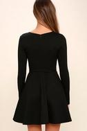 Forever Chic Black Long Sleeve Dress 4