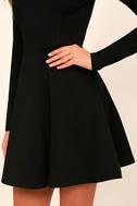 Forever Chic Black Long Sleeve Dress 5