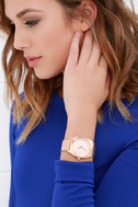 Nixon Time Teller Rose Gold Watch 2