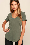Z Supply Pleasant Surprise Olive Green Tee 1