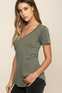 Z Supply Pleasant Surprise Olive Green Tee 3