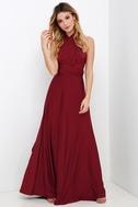 Always Stunning Convertible Burgundy Maxi Dress 2