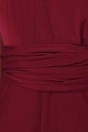Always Stunning Convertible Burgundy Maxi Dress 7