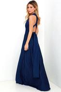 Always Stunning Convertible Navy Blue Maxi Dress 5