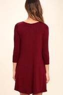 Twirl Power Wine Red Swing Dress 4