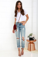 Blank NYC Thrifter Light Wash Distressed Boyfriend Jeans 2