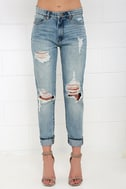 Blank NYC Thrifter Light Wash Distressed Boyfriend Jeans 3