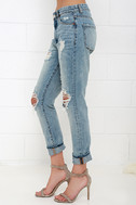 Blank NYC Thrifter Light Wash Distressed Boyfriend Jeans 4
