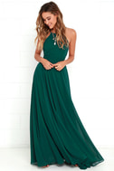Mythical Kind of Love Dark Green Maxi Dress 2