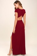 Conversation Piece Wine Red Backless Maxi Dress 3