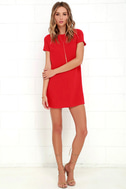 Shift and Shout Red Shift Dress 2