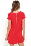 Shift and Shout Red Shift Dress 4
