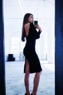 Va Va Voom Black Backless Midi Dress 7