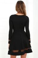 Sheer Leader Black Mesh Skater Dress 4