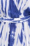 Sunday Morning Blue Tie-Dye Wrap Maxi Dress 7