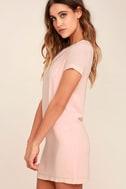 Shift and Shout Blush Pink Shift Dress 3