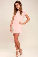 Shift and Shout Blush Pink Shift Dress 2