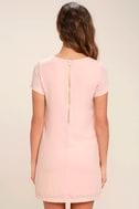 Shift and Shout Blush Pink Shift Dress 5