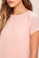 Shift and Shout Blush Pink Shift Dress 6