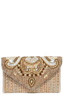 Constantinople Gold Beaded Clutch 2
