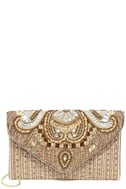 Constantinople Gold Beaded Clutch 3
