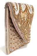 Constantinople Gold Beaded Clutch 4