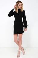 Midnight in Paris Black Long Sleeve Dress 2