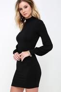 Midnight in Paris Black Long Sleeve Dress 3