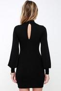 Midnight in Paris Black Long Sleeve Dress 4