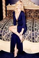 Garden District Navy Blue Wrap Maxi Dress 2