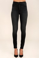 Hi There! Washed Black High-Waisted Skinny Jeans 2