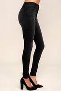 Hi There! Washed Black High-Waisted Skinny Jeans 3