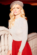Anything is Posh-ible White Striped Top 8