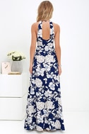 In Blossom Blue Floral Print Maxi Dress 4