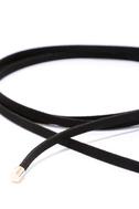 Ride or Tie Black Wrap Necklace 3