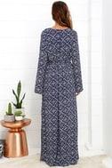 Mandala Daydream Blue Print Maxi Dress 4