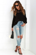 Picture This Black Long Sleeve Lace Top 2