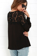 Picture This Black Long Sleeve Lace Top 3