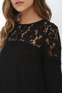 Picture This Black Long Sleeve Lace Top 5