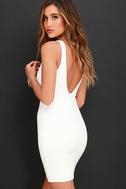 Coquina White Lace Bodycon Dress 3