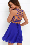 Good Deeds Royal Blue Lace-Up Dress 1