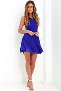 Good Deeds Royal Blue Lace-Up Dress 2