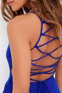Good Deeds Royal Blue Lace-Up Dress 5