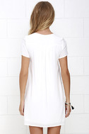Down in Kokomo Ivory Embroidered Shift Dress 5