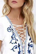 Down in Kokomo Ivory Embroidered Shift Dress 6