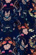 I. Madeline Garden Splendor Navy Blue Floral Print Dress 6